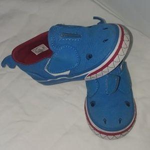 Vans Slip On Shark Shoes Toddler Boys Size 5